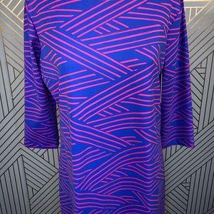 Mahi Gold Dresses - Mahi Gold Bimini Dress Chart Your Course Blue Pink
